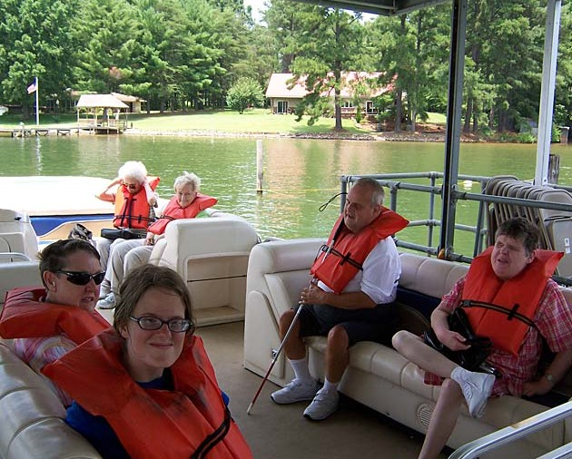 A day on the lake with friends