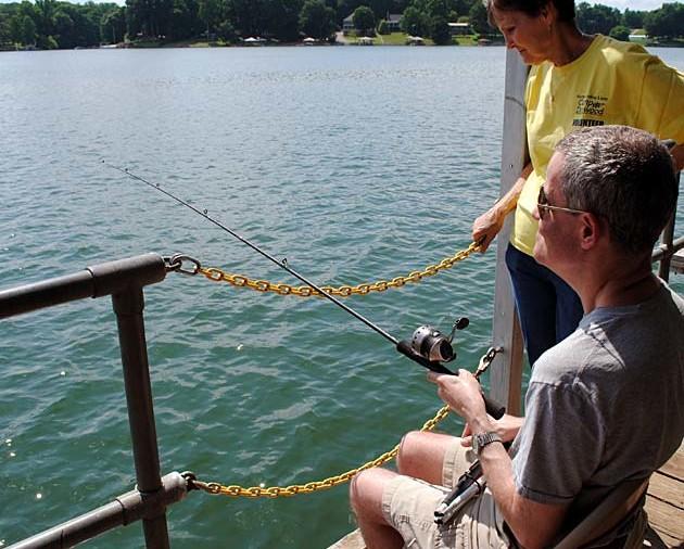 Fishing is great fun on Lake Norman